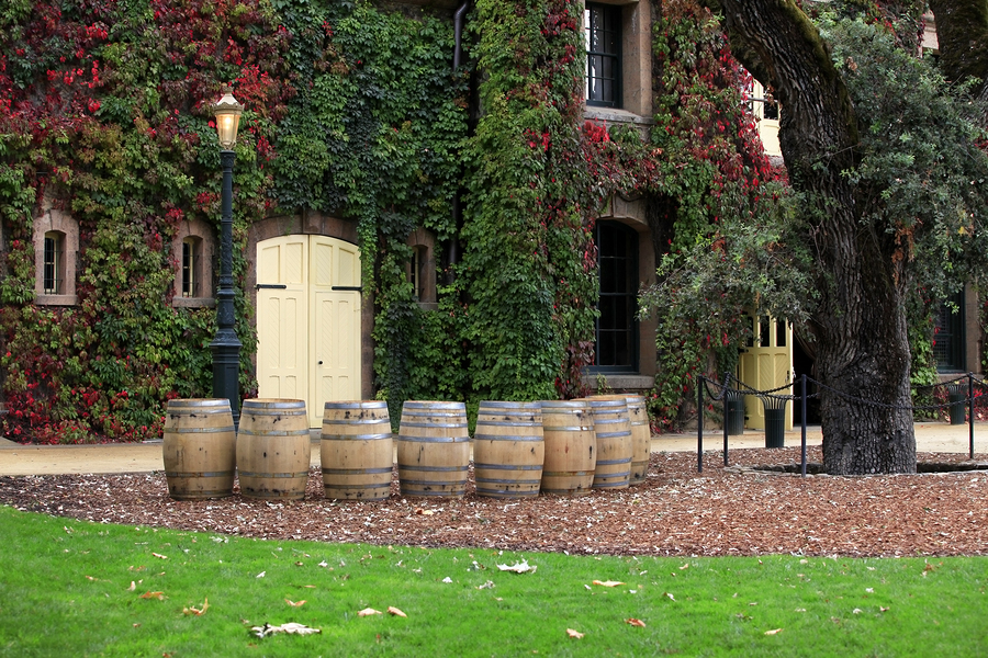 Winery historic building in Napa Valley. California