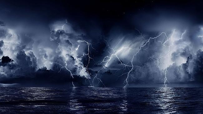 Much of the continuous lightning stays up in the clouds but there are awesome periods when the bolts burst from the clouds and strike the ground and both ...