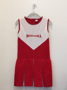"""He was a huge Nebraska football fan. So, naturally, I had to get a vintage cheerleader outfit..."""