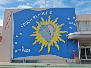 To the natives, the Keys is known as the Conch Republic. They declared their independence in 1982 over a heated tourism dispute. The largest of all the Keys is Key Largo which stretches for over thirty miles.