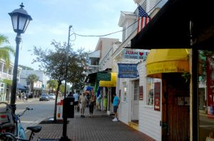 Duval Street in Key West is considered to be the longest street in the country. It runs from one coast to the other. Key West is the largest city by population in the entire Conch Republic.